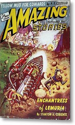 Sci-fi Magazine Cover 1941 Metal Print by Granger