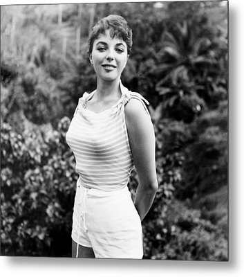 Sea Wife, Joan Collins, On-set Metal Print