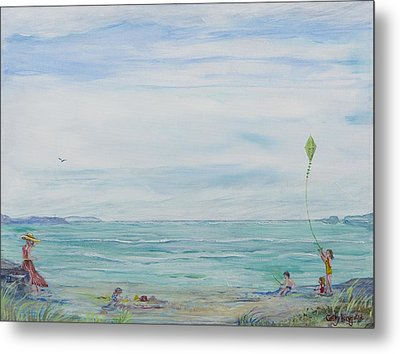 Seabreeze Beach Metal Print by Cathy Long
