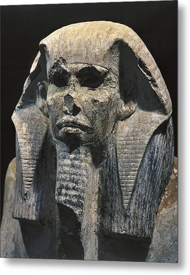 Seated Statue Of King Djoser. 2611 Bc Metal Print by Everett