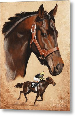 Seattle Slew Metal Print
