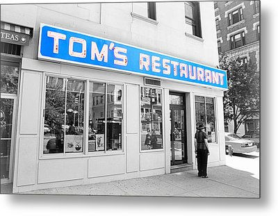 Seinfeld Diner Location Metal Print by Valentino Visentini