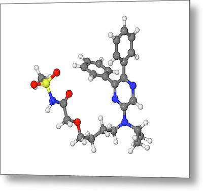 Selexipag Blood Pressure Drug Molecule Metal Print by Dr Tim Evans