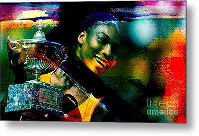Serena Williams Metal Print by Marvin Blaine