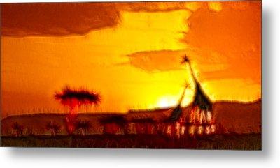 Serengeti Sunset Metal Print by Sebastian Musial