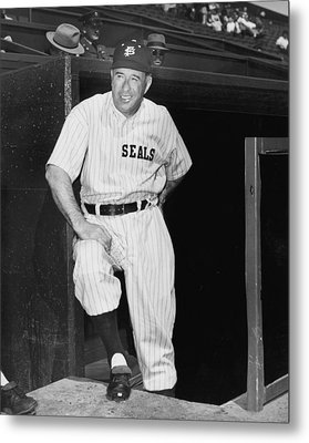 Sf Seals Manager Lefty O'doul Metal Print by Underwood Archives