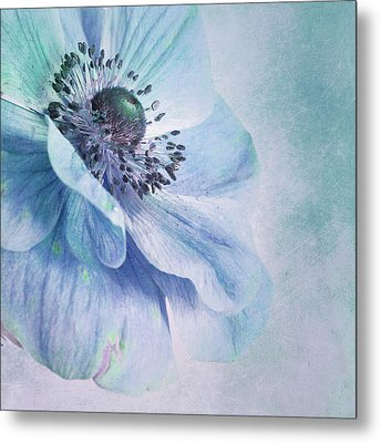 Shades Of Blue Metal Print by Priska Wettstein