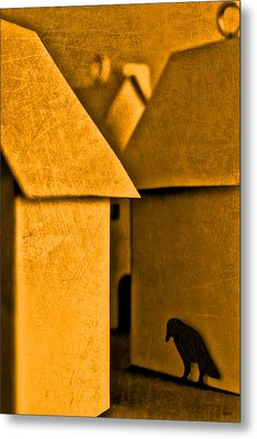 Shadow Of A Crow Metal Print by Jeff  Gettis