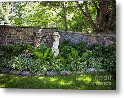 Shady Perennial Garden Metal Print by Elena Elisseeva