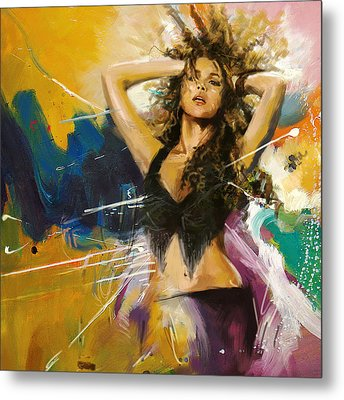 Shakira Metal Print by Corporate Art Task Force