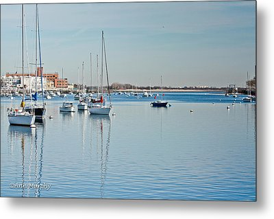 Metal Print featuring the photograph Sheepshead Bay Harbor by Ann Murphy