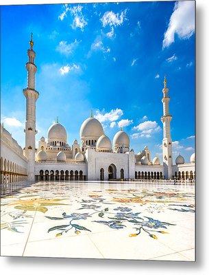 Sheikh Zayed Mosque - Abu Dhabi - Uae Metal Print by Luciano Mortula