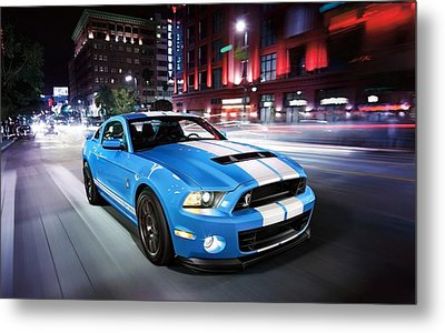 Shelby Gt Metal Print by Art Work