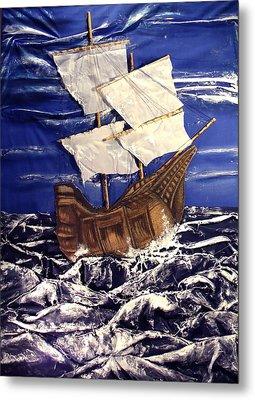 Ship Metal Print by Angela Stout