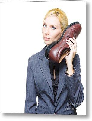 Shoe Telephone Metal Print