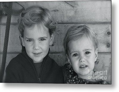 Metal Print featuring the photograph Siblings by Barbara Dudley