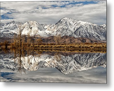Sierra Reflections Metal Print by Cat Connor
