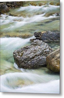 Silk And Stone Johnston Canyon Metal Print