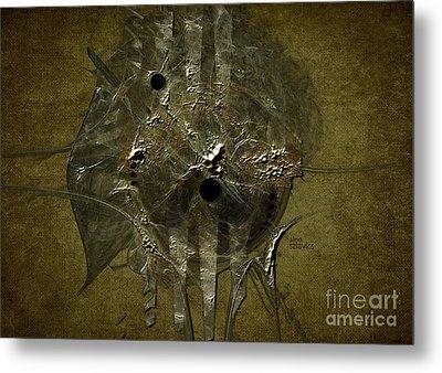 Metal Print featuring the digital art Silver Disc by Alexa Szlavics