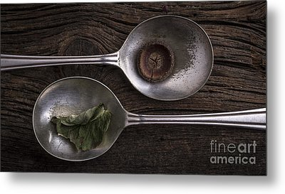 Silver Spoons Metal Print by Edward Fielding
