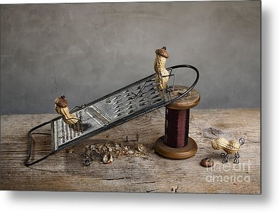 Simple Things - Sliding Down Metal Print by Nailia Schwarz