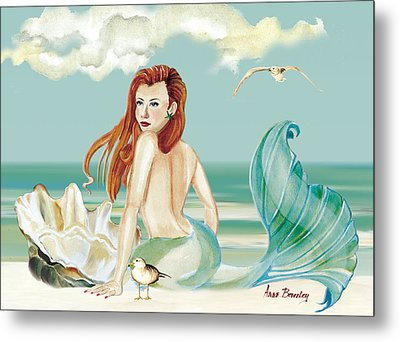 Siren Of The Sea Metal Print by Anne Beverley-Stamps