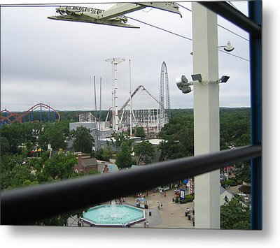 Six Flags Great Adventure - 12121 Metal Print by DC Photographer