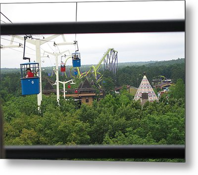 Six Flags Great Adventure - 12126 Metal Print by DC Photographer