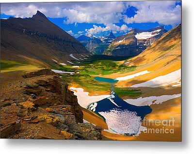 Metal Print featuring the photograph Siyeh Pass by Aaron Whittemore