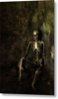 Skeleton Metal Print by Amanda Elwell