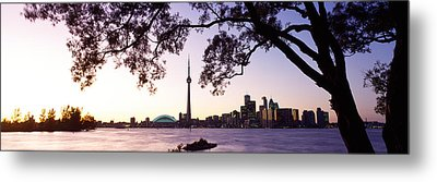Skyline Cn Tower Skydome Toronto Metal Print by Panoramic Images