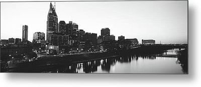 Skylines At Dusk, Nashville, Tennessee Metal Print by Panoramic Images