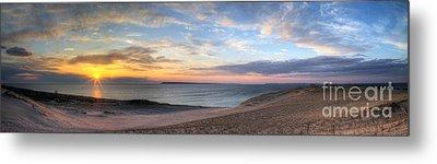 Sleeping Bear Dunes Sunset Panorama Metal Print by Twenty Two North Photography