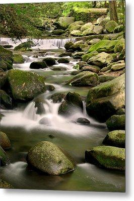 Smoky Mountain Stream Metal Print by Cindy Haggerty