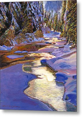 Snowy Creek Metal Print by David Lloyd Glover