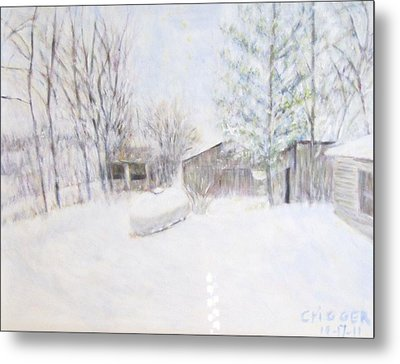 Snowy February Day Metal Print