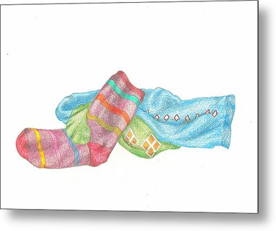 Socks 1 Metal Print by Lew Davis