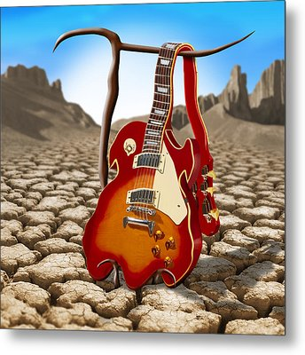 Soft Guitar II Metal Print by Mike McGlothlen