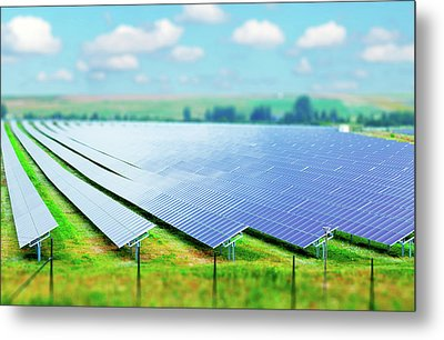 Solar Farm Metal Print
