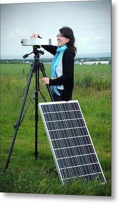 Solar Radiation Monitoring Metal Print