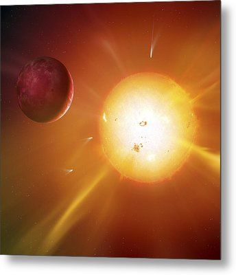 Solar System Formation, Artwork Metal Print by Science Photo Library