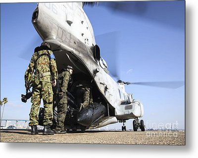 Soldiers With The Japan Ground Metal Print by Stocktrek Images