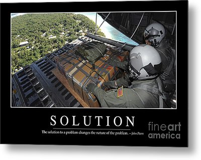 Solution Inspirational Quote Metal Print by Stocktrek Images