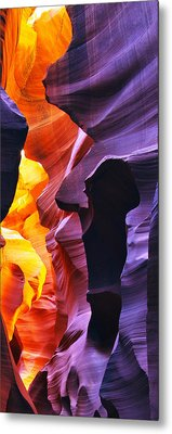 Metal Print featuring the photograph Somewhere In America Series - Antelope Canyon by Lilia D