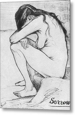Sorrow  Metal Print by Vincent Van Gogh