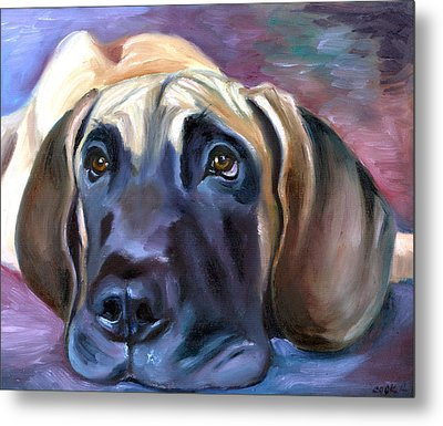 Soulful - Great Dane Metal Print by Lyn Cook