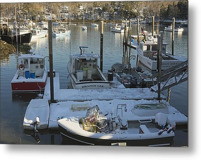 South Bristol And Fishing Boats On The Coast Of Maine Metal Print by Keith Webber Jr