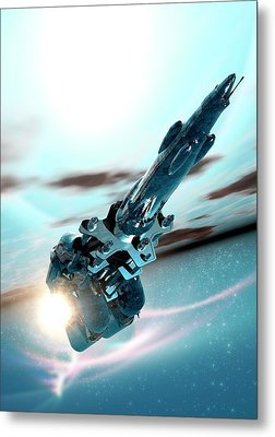 Space Craft Metal Print by Victor Habbick Visions