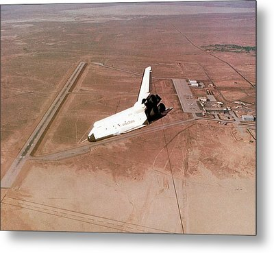 Space Shuttle Prototype Testing Metal Print