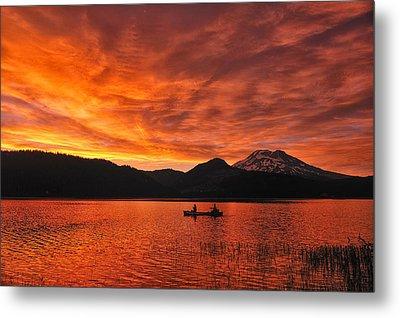 Sparks Lake Sunset Metal Print